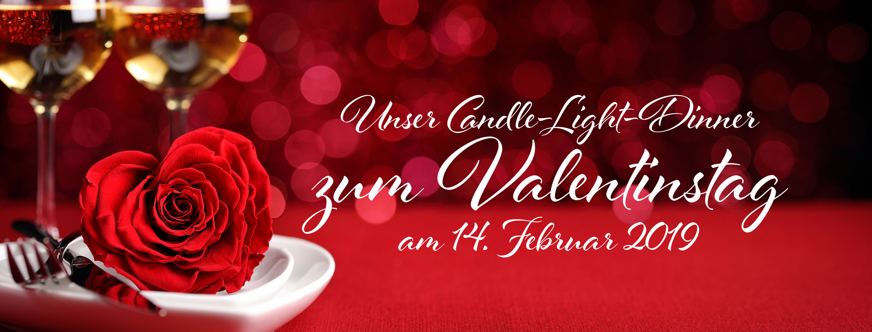 Valentintags Candle Light Dinner Restaurant Ratsstube